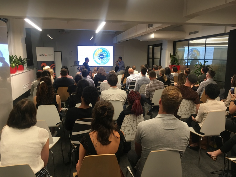 Tony Eades and Justin Theng present Conversational Marketing at the Sydney HubSpot User Group
